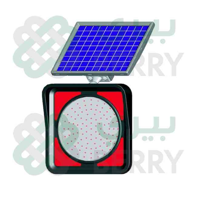 Solar Flasher Lamp Red