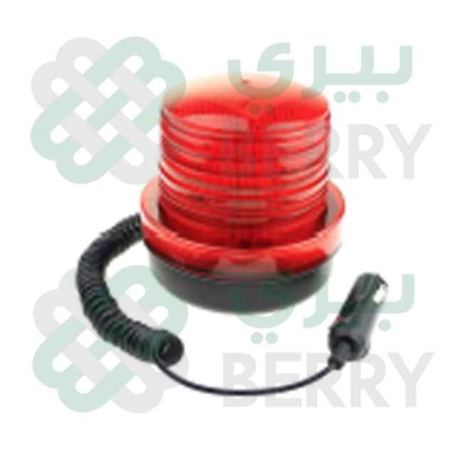 Rotating Warning Light 12-24V Red 3.5