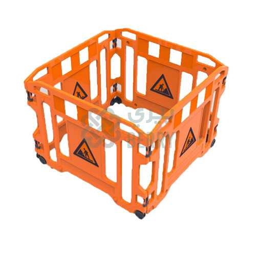 Safety Barricade Yellow Gate 4pcs/set
