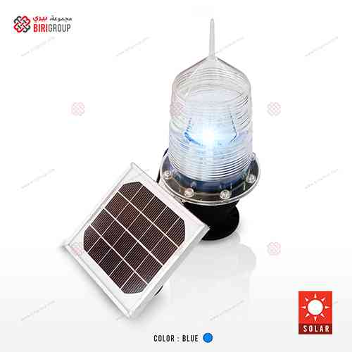 Marine Blue Solar Warning Light|~~|