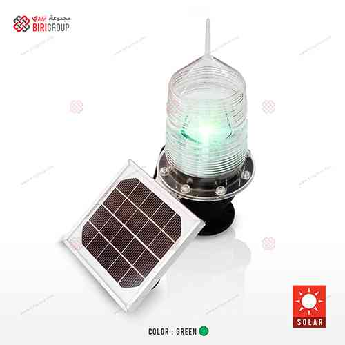 Marine Green Solar Warning Light