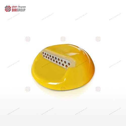 Ceramic Stud Reflector 10CM Yellow,