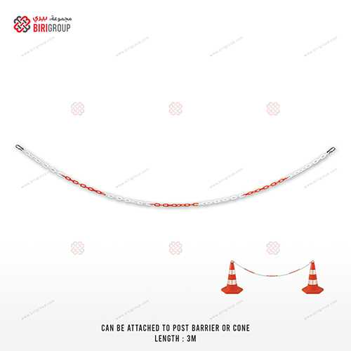 Plastic Chain Red And White 3 Meter