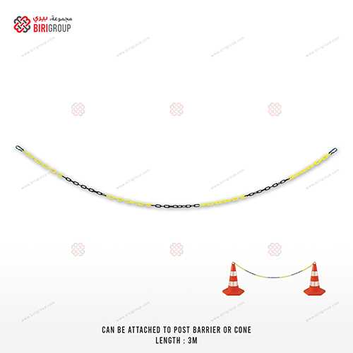 Plastic Chain Yellow And Black 3 Meter