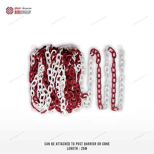 Plastic Chain Red & White 25M