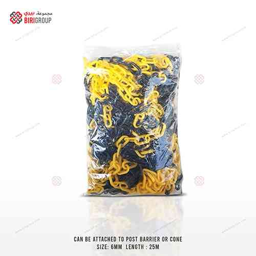 Chain 6MMx25M Yellow & Black