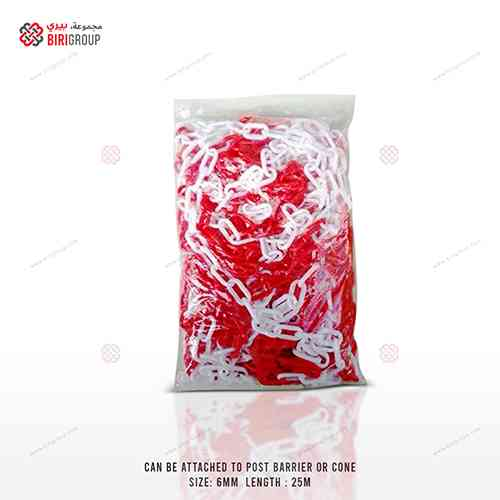 Chain 6MMx25M Red & White