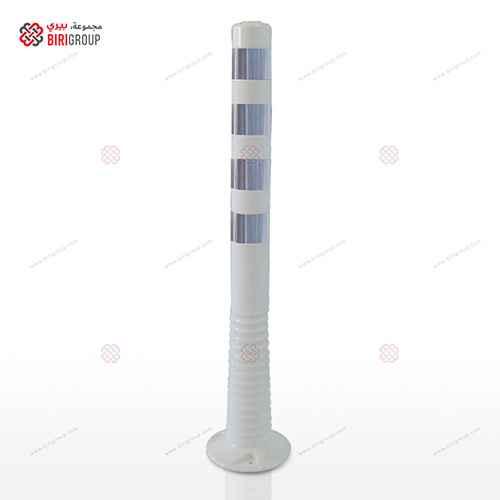 Delineator 100CM White|~~|عمود مرن 30سم ابيض