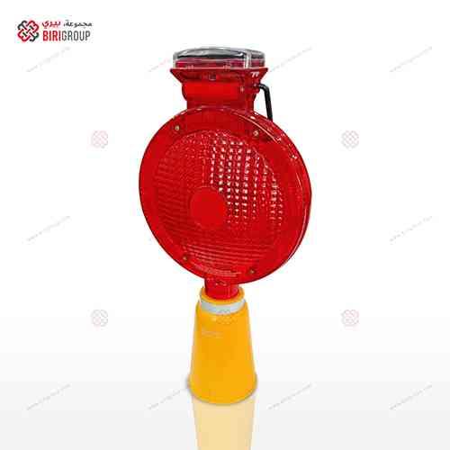Solar Lamp Cone Base Red Big