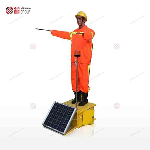 Construction Robot Solar,رجل تحذير آلي طاقة شمسية,