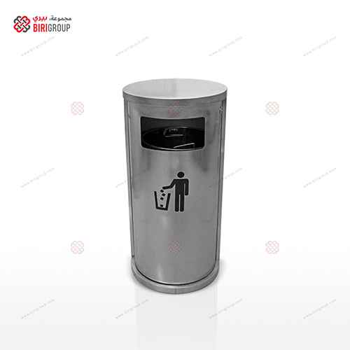 Trash Box With One(1) Steel Body Section ~~ صندوق قمامة فتحة واحدة ستالس
