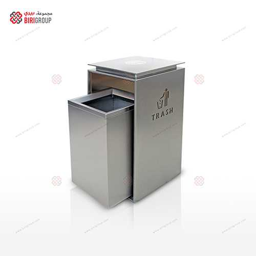 Trash Box Small And Large With 2 Steel Body Section ~~ صندوق قمامة صغير و كبير فتحتان
