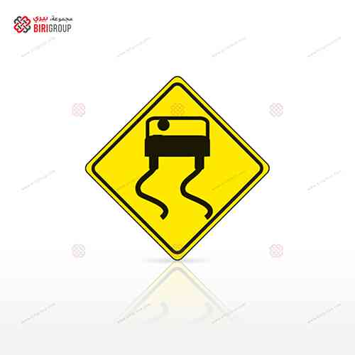 LED Warning Sign Square 60cm
