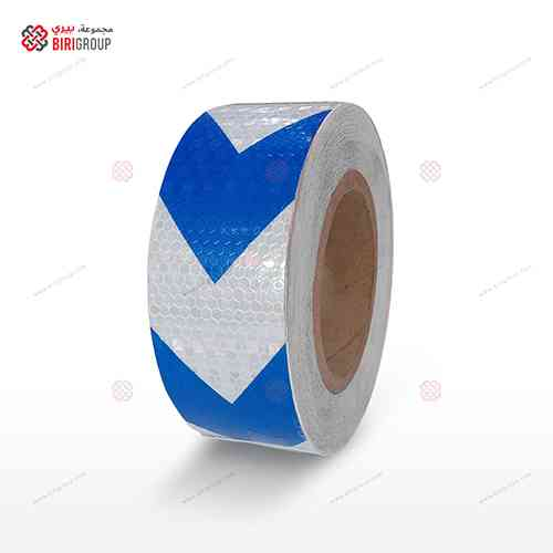PVC White & Blue Arrow 5cm X 25Y