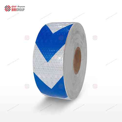 PVC White & Blue Arrow 5cm X 50Y