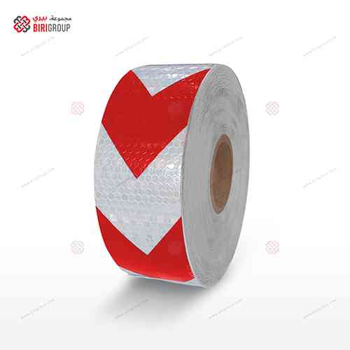 PVC White & Red Arrow 5cm X 50Y
