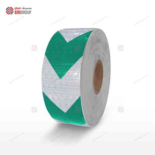 PVC White & Green Arrow 5cmX50Y