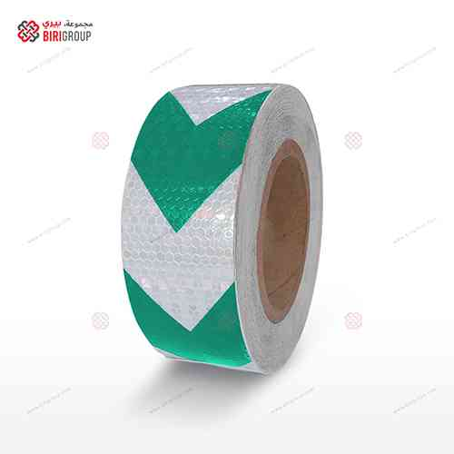 PVC White & Green Arrow 5cmX25Y