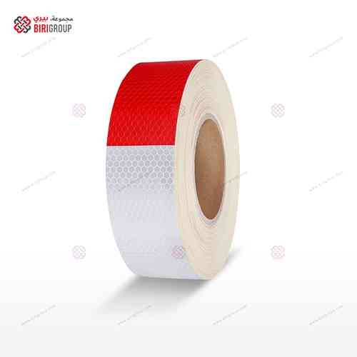 PVC White & Red Tape 5CM×25Y