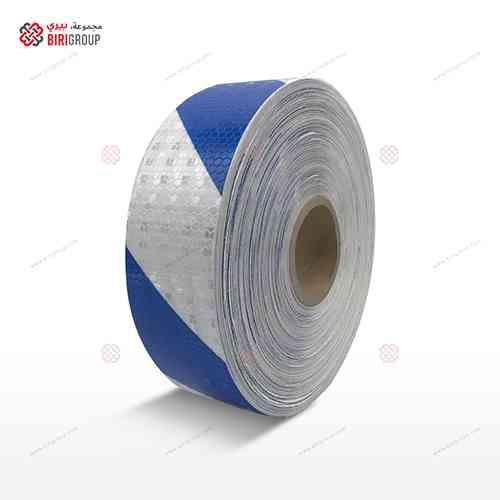 PVC White & Blue Line 5cmX50Y