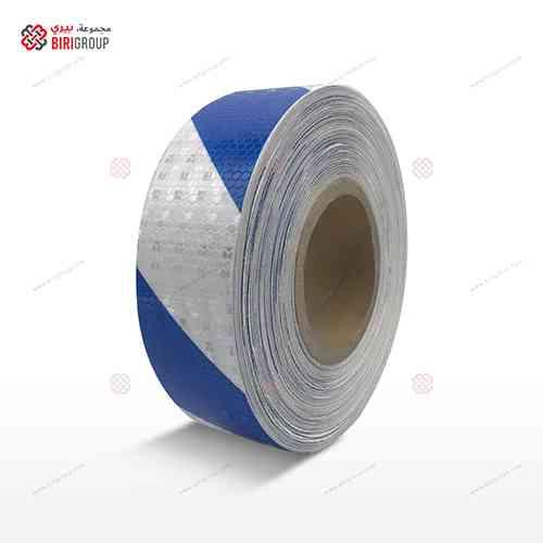 PVC White & Blue Line 5cmX25Y