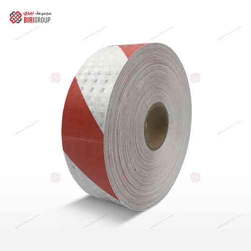 PVC White & Red Line 5cmX50Y
