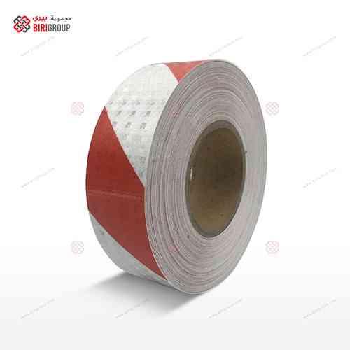 PVC White & Red Line 5cmX25Y