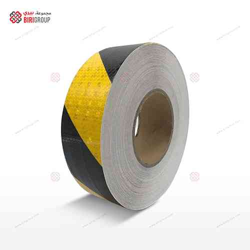 PVC Yellow & Black Line 5cm X 25Y