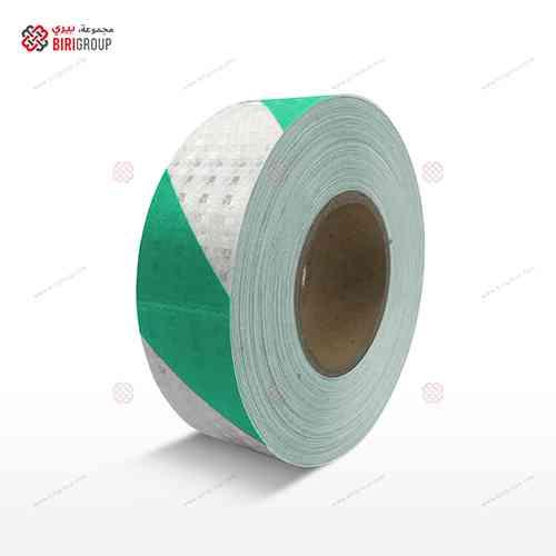 PVC White & Green Line 5cm X 25Y