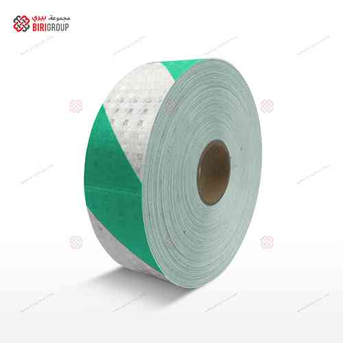 PVC White & Green Line 5cm X 50Y