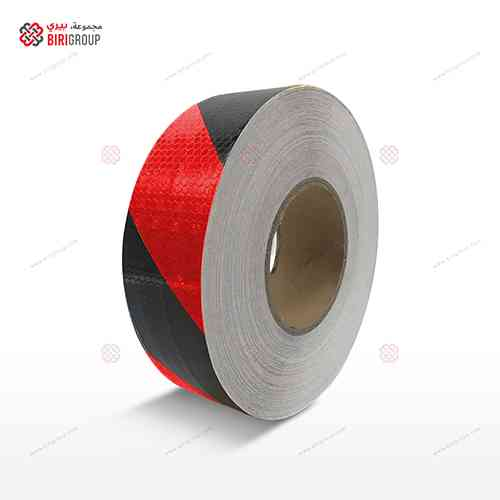 PVC Red & Black Line 5cm X 25Y