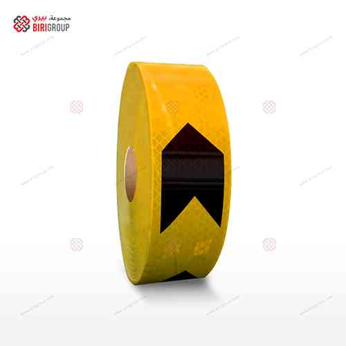 PVC G.Yellow & Black Arrow 5cmX20M|~~|لاصق عاكس اسهم شريط اسود اصفر 5سم × 20 متر