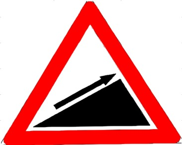 Slope-up Sign 150
