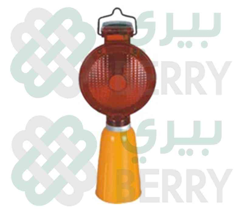 Solar Lamp Cone Base Red Big