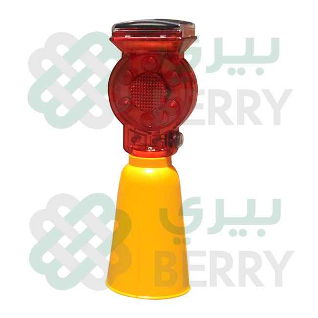 Solar Lamp Cone Base Red Small