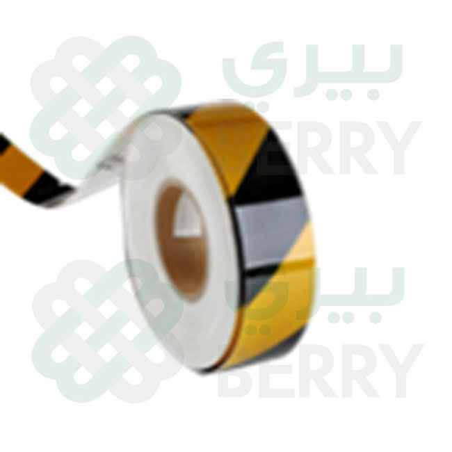 PVC Yellow & Black Line 5cm X 50Y