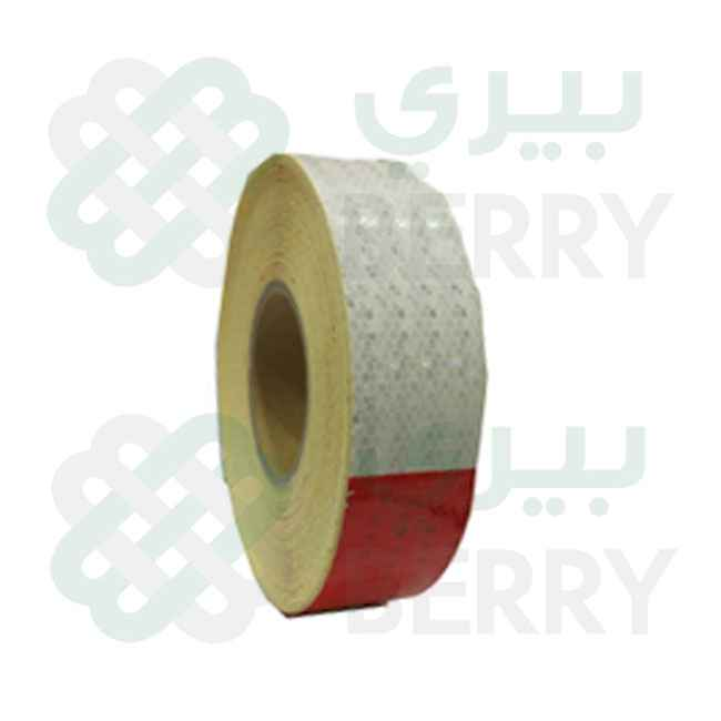 PVC White & Red Tape 5CM×50Y